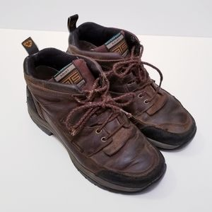 Ariat Mens 8.5 Brown leather Lace Up Boots